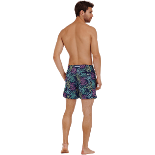 Men Classic Embroidered - Men Swimwear Embroidered Jungle - Limited Edition, Midnight blue backworn