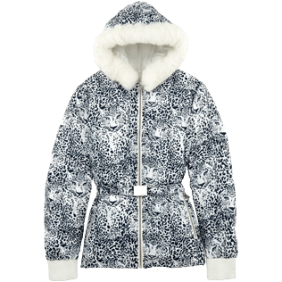 Mujer Vests AND Jackets Estampado - Chaqueta de plumas reversible con estampado Snow Tiger, Blanco front