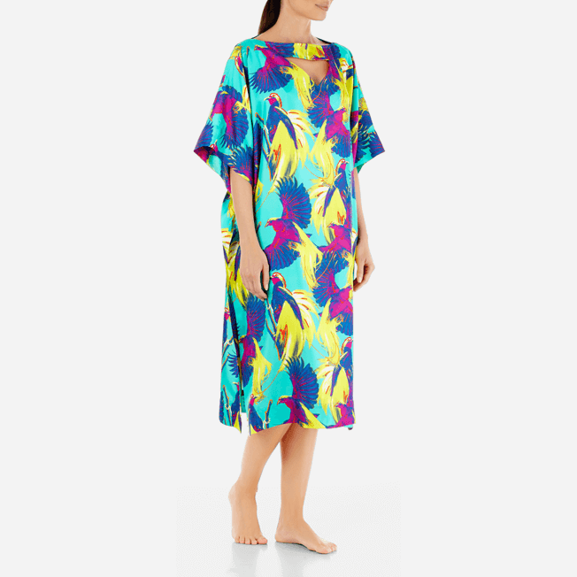 Vilebrequin - Robe en Twill de Soie Femme Birds of Paradise - 3