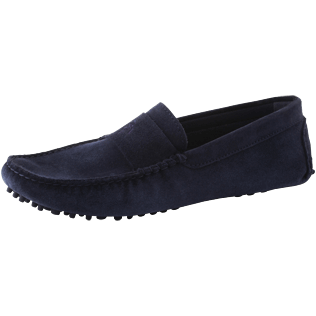 Men Others Solid - Men Very soft Daim Loafers Solid, Navy back