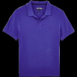 Men Polos Solid - Cotton pique polo, Ultramarine front