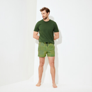 Men Stretch classic Printed - Men Swim Trunks Stretch Crocros, Grass green supp2