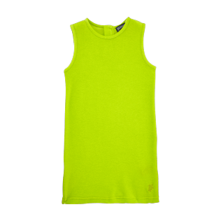 Girls Dresses Solid - Solid Terry Sleeveless dress, Lemongrass front