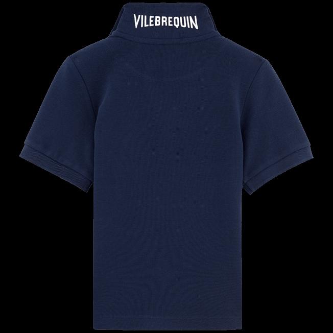 Vilebrequin - Boys Cotton Pique Polo Shirt Solid - 2