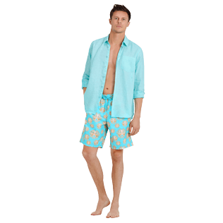Men Long classic Printed - Men Swimwear Long Poulpes, Lagoon supp2