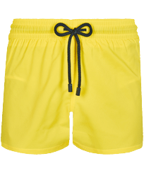 Men Short classic Solid - Men Swim Trunks Short and Fitted Stretch Solid, Lemon front