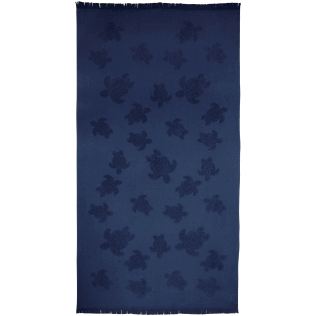 Others Solid - Beach Towel Fouta Jacquard Tortues, Navy front