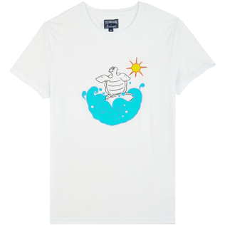 Men Others Printed - Men Organic Cotton T-shirt Surf, White front