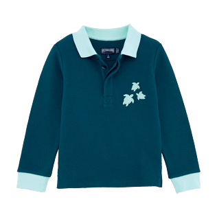 Boys Polos Solid - Polo long sleeves, Spray front