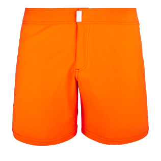 Men Flat belts Solid - Men Flat Belt Stretch swimtrunks Solid, Kumquat front