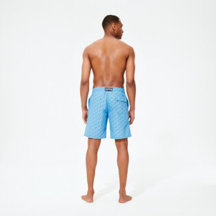 Men Long classic Printed - Men Swim Trunks Long Micro Ronde des Tortues, Jaipuy backworn