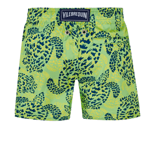Boys Others Printed - Boys Swim Trunks Ultra-Light and Packable Jungle Turtles, Grass green back