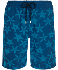 Men Long classic Printed - Men Long Swim Trunks Starfish Dance Flocked, Goa front