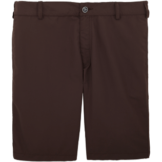 Men Shorts Solid - Men Straight Swimwear fabric Bermuda Shorts Solid, Chocolate front