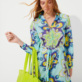 Women Others Printed - Women Cotton Shirt Dress Kaleidoscope, Lagoon supp4