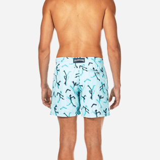 Men Embroidered Embroidered - Danse du Feu All Over Embroidered Swim shorts, Lagoon supp2