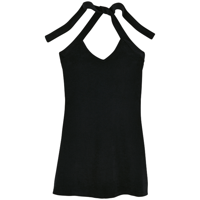 Vilebrequin - Robe courte dos nu en Eponge Femme Unie - 1