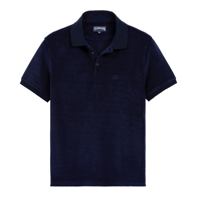 Vilebrequin - Men Terry Cloth Polo Shirt Solid - 1