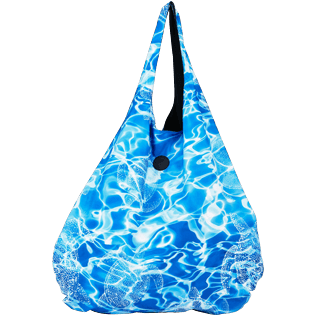 Others Printed - Oversize Lightweight Foldable Bag Splash, Neptune blue front