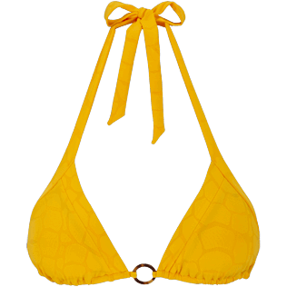 Women Triangle Solid - Women triangle bikini Top Ecailles de Tortue, Mango front