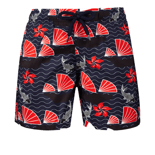 Boys Others Printed - Boys Ultra-Light and packable Swimwear Hong Kong, Navy front