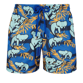 Men Ultra-light classique Printed - Men Ultra-Light and packable swimtrunks Sydney - Web Exclusive, Sea blue front