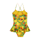 Girls Others Printed - Girls One-piece Swimsuit Go Bananas, Curry back