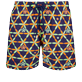 Men Classic / Moorea Embroidered - Men Swim Trunks Embroidered Indian Ceramic - Limited Edition, Sapphire front