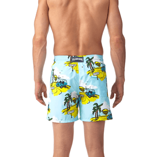 Men Classic / Moorea Printed - Sunny Car Swim shorts, Frosted blue supp3