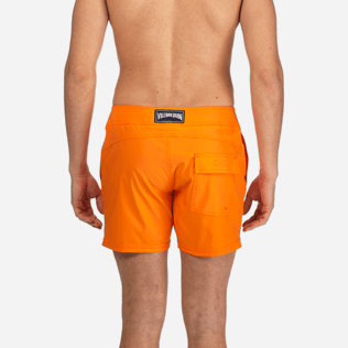 Men Flat belts Solid - Men Flat Belt Stretch swimtrunks Solid, Kumquat supp2