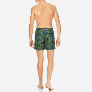 Men Embroidered Embroidered - Men Swimtrunks Embroidered Hypnotic Turtles - Limited Edition, Spray backworn