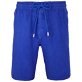 Men Others Solid - Men Italian Pockets Linen Bermuda Shorts Solid, Neptune blue front