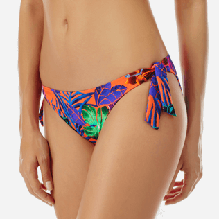 Women Classic brief Printed - Women brief to be tied bikini Bottom Porto Rico, Bright orange supp1