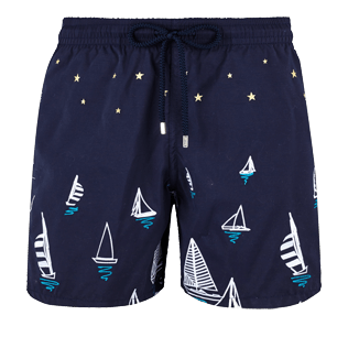 Men Embroidered Embroidered - Men Embroidered swimwear Porto Cervo - Limited Edition, Navy front