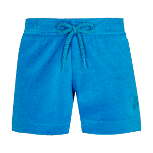 Girls Others Solid - Girls Terry Cloth Shortie Solid, Hawaii blue front