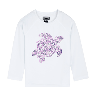 Autros Estampado - Camiseta térmica de manga larga con estampado Jungle Turtles para niños, Blanco front