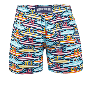 Boys Others Printed - Boys Stretch Swimwear Mykonos, Tropezian blue back