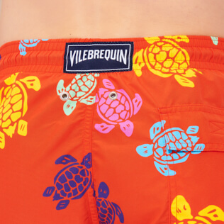 Men Classic Printed - Men Swim Trunks Tortues Multicolores, Medlar supp1