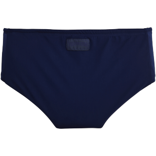 Men Fitted Solid - Smoking Tuxedo swim briefs, Navy back