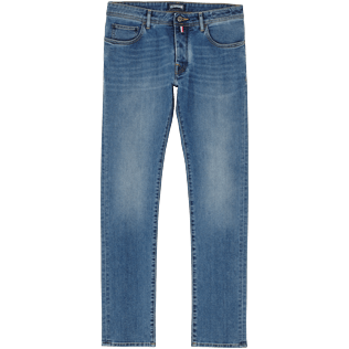 Homme AUTRES Uni - Pantalon 5 Poches Homme Coupe regular, Light denim w3 front