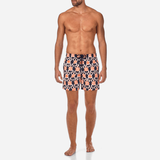 Men Classic Printed - Primitive Turtles Swim shorts, Navy frontworn