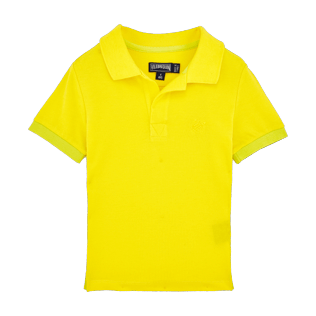 Boys Polos Solid - Boys Cotton Pique Polo shirt Solid, Lemon front