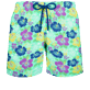 Men Classic Printed - Men Swim Trunks Tropical turtles, Cardamom front