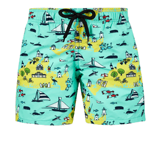 Boys Others Printed - Boys Swimwear Martha's Vineyard, Mint front