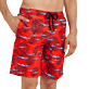 Men Long classic Printed - Men Swimwear Long Coral & Fish, Medicis red supp1