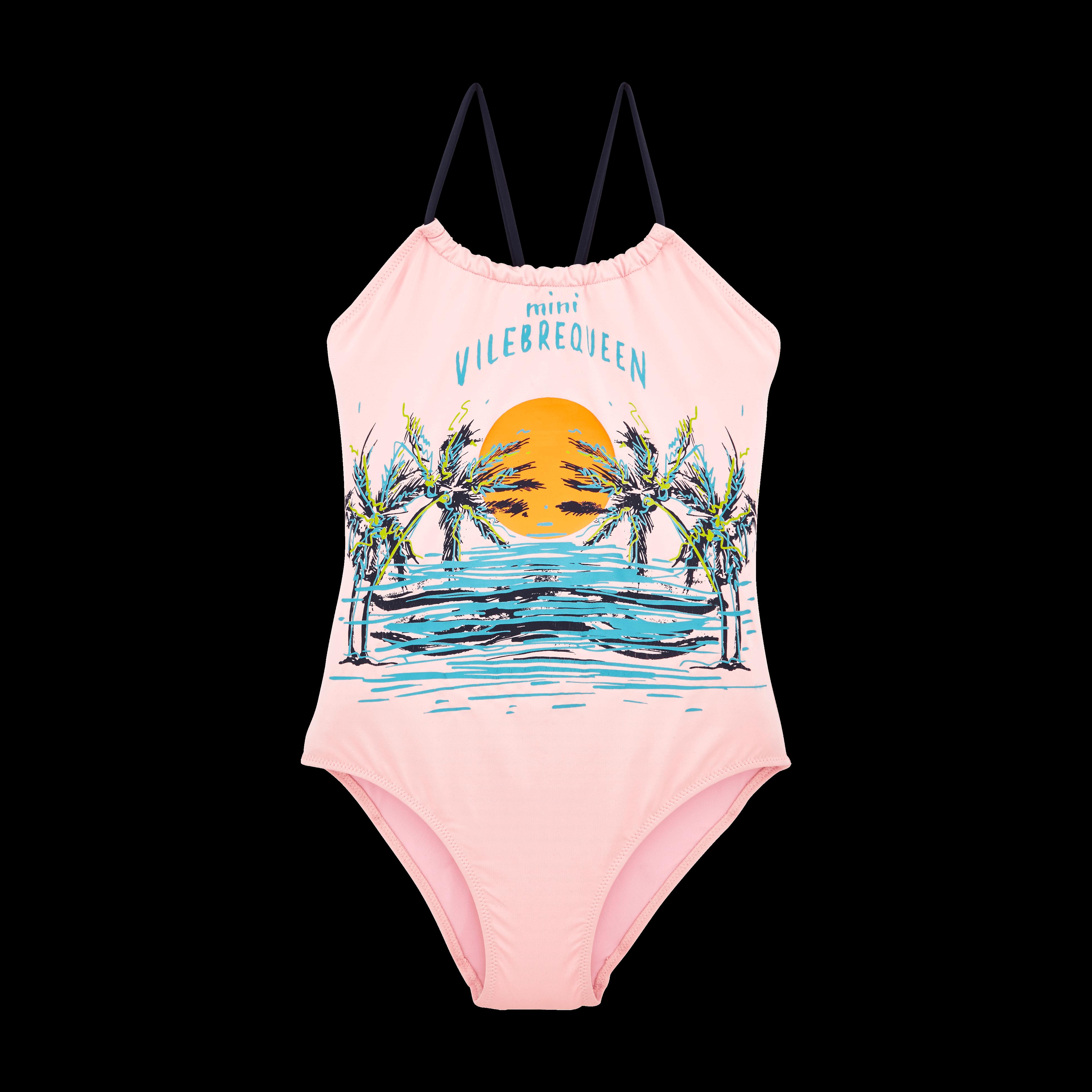 VILEBREQUIN | Girls Swimwear - Girls One Piece Swimsuit Mini Vilebrequeen - SWIMMING TRUNK - GAZETTE - Pink - 12 - Vilebrequin | Goxip