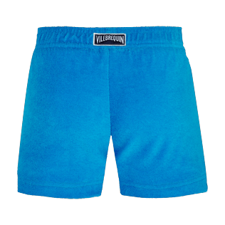 Girls Others Solid - Girls Terry Cloth Shortie Solid, Hawaii blue back