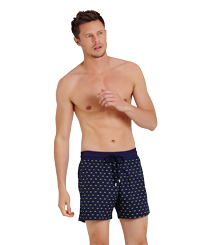 Men Stretch classic Magic - Men Swim Trunks Stretch Crabs Glow in the dark, Midnight blue frontworn