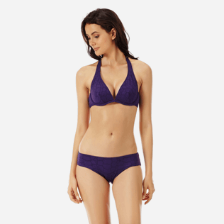 Women Classic brief Solid - Women covering brief bikini Bottom Ecailles de Tortue, Reddish purple frontworn