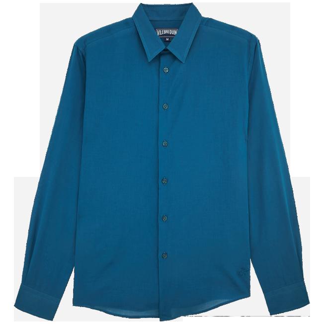 Vilebrequin - Camisa en gasa de algodón con estampado liso unisex - 1